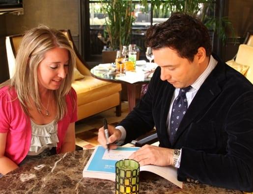 Rocco DiSpirito Signing My Copy of His Cookbook