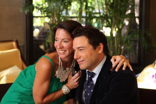 Brittney and Rocco Dispirito Posing Together for a Photo