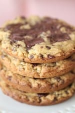 Salted Caramel Dark Chocolate Chunk Cookies....The LA Cookie
