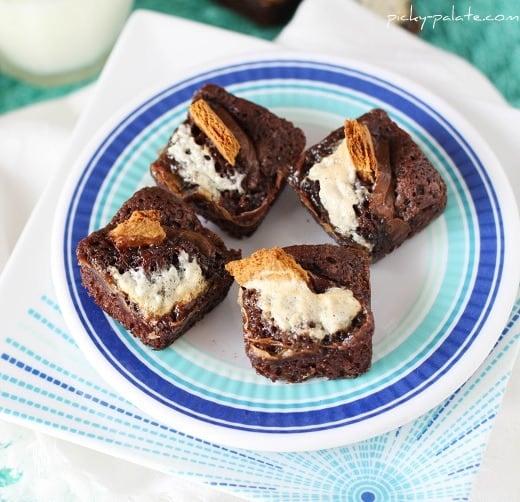 S'mores Stuffed Brownies Recipe — Dishmaps