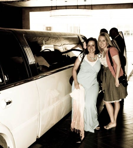 Mandy and I Posing Beside Our Limo