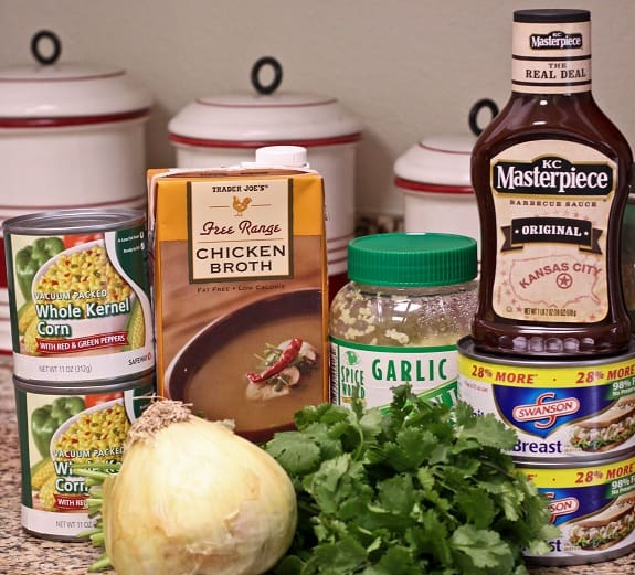 Chicken Broth, Canned Corn, Garlic and the Other Soup Ingredients