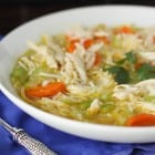 Homemade Chicken, Ranch and Rice Soup