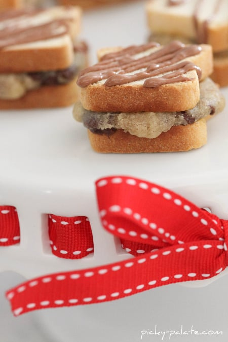 Itty Bitty Chocolate Chip Cookie-wiches - Picky Palate