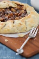 Chocolate and Caramel Apple Pie Galette
