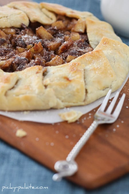 Chocolate and Caramel Apple Pie Galette - Picky Palate