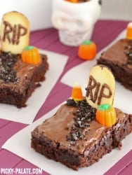 Graveyard Brownies 5