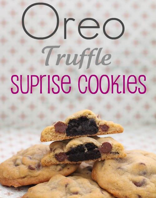 Oreo Truffle Surprise Cookies 1 - Picky Palate