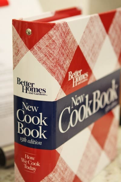 The Better Homes and Gardens' Red Flannel-Print Cook Book