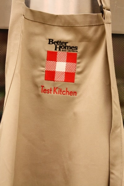 A Close-Up Shot of a Better Homes and Gardens' Test Kitchen Apron