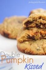 Double Pumpkin Kissed Chocolate Chunk Cookies