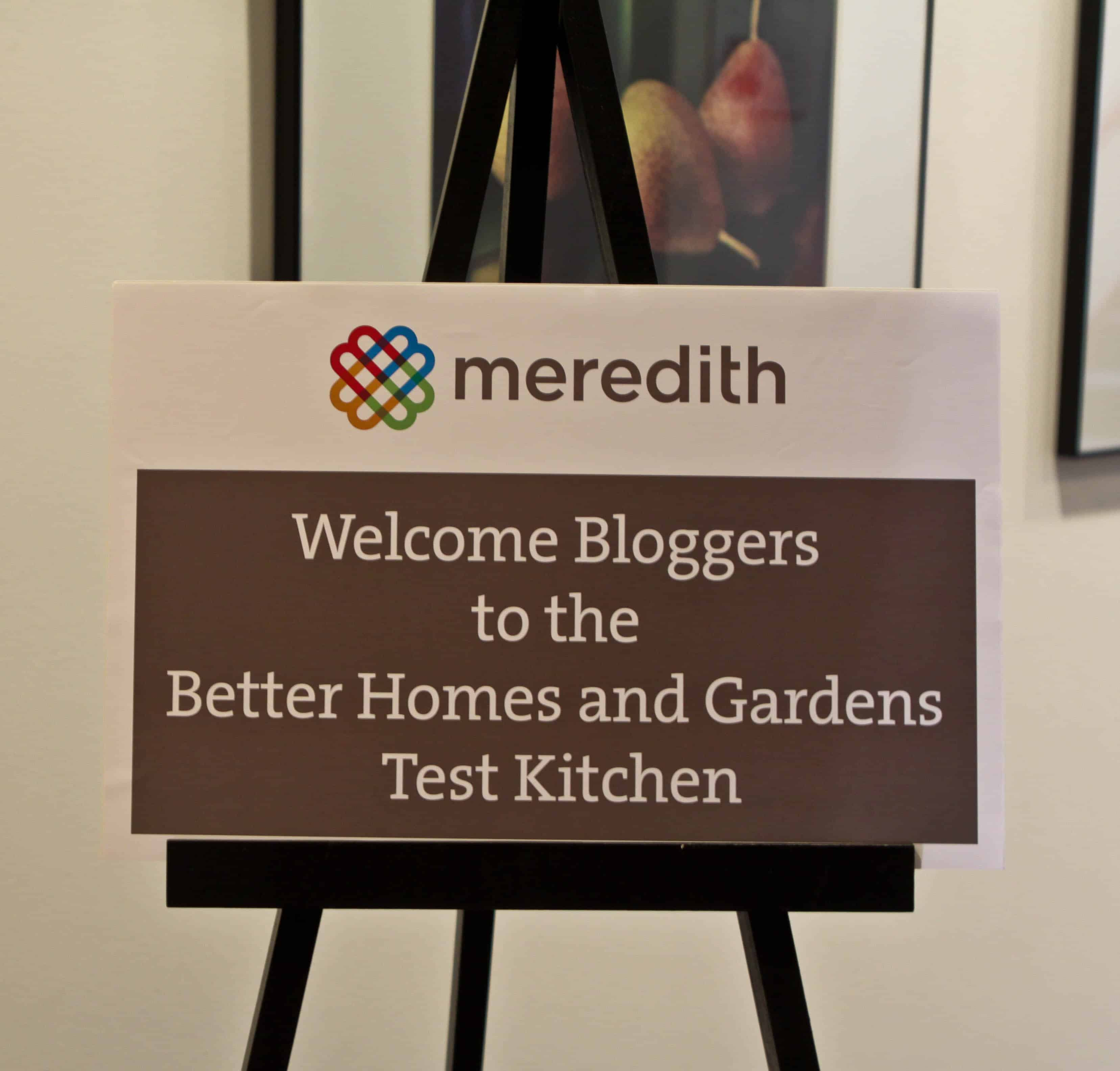 The Welcome Sign at One of Better Homes and Gardens' Test Kitchens