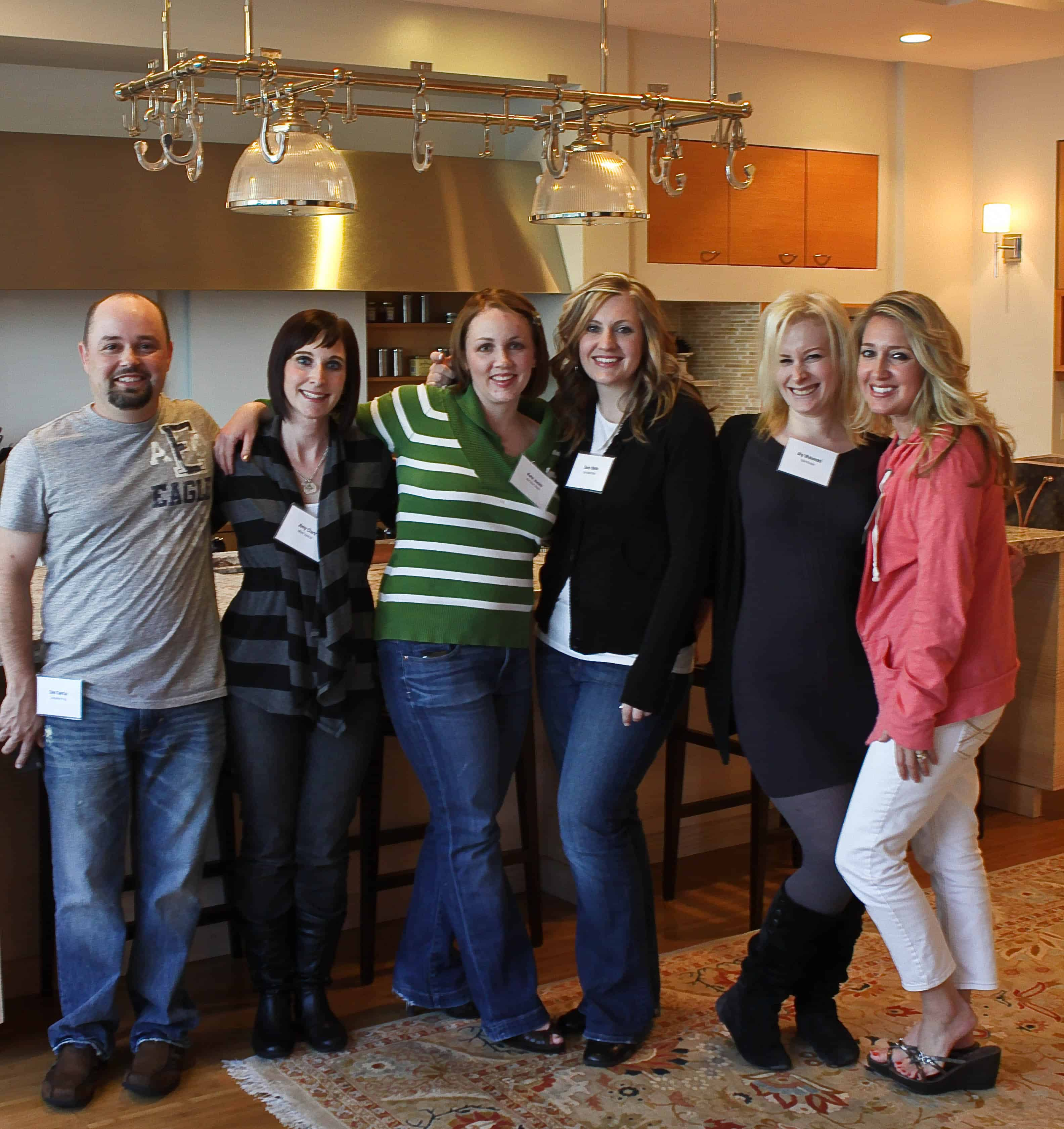 Six Food Bloggers Posing in One of the Better Homes and Gardens Test Kitchens