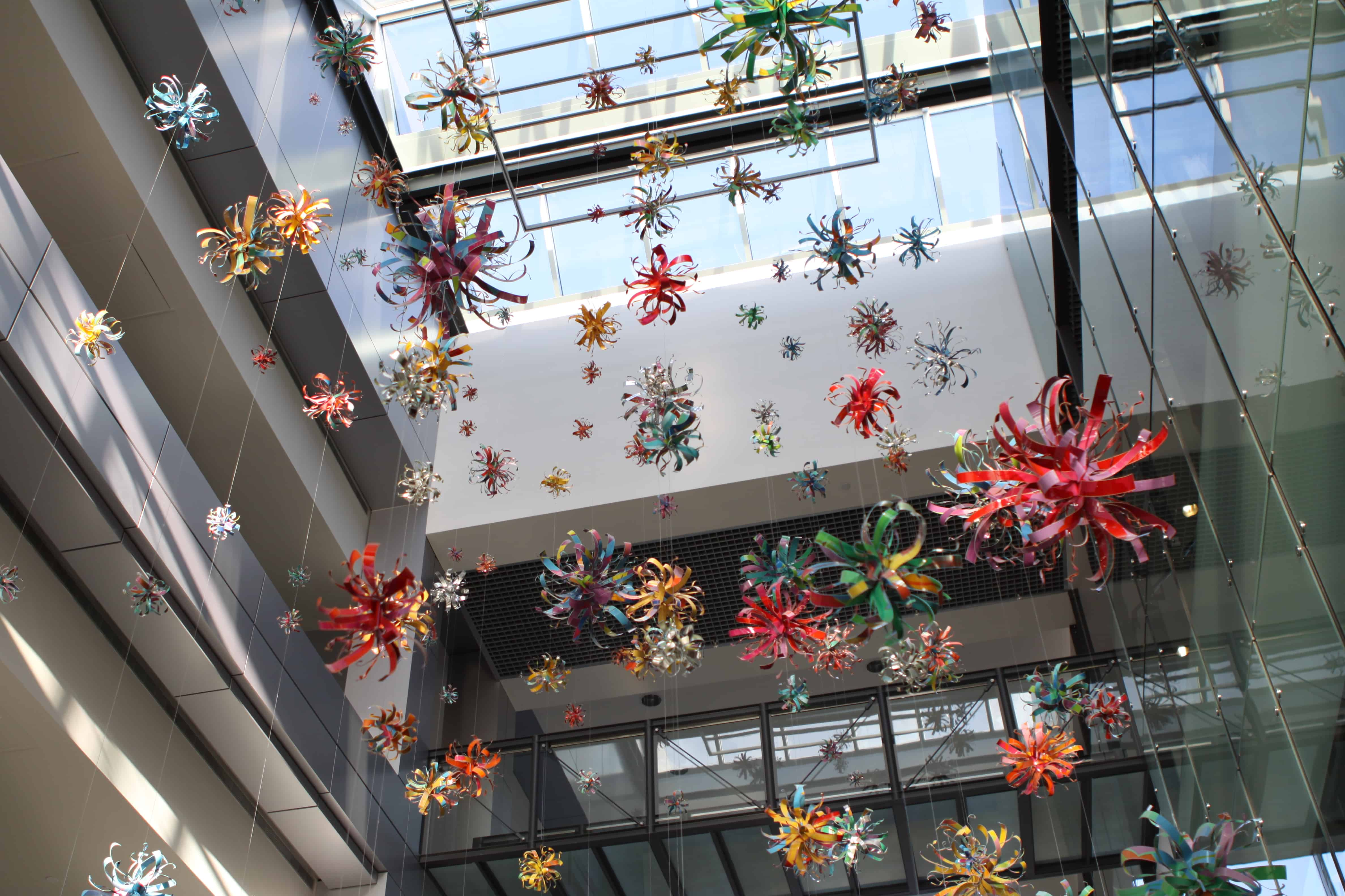 Colorful Hanging Decorations on the First Floor of the BHG Building
