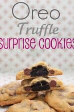Title Image for Oreo Truffle Surprise Cookies