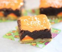 Shortbread Candy Corn Kissed Brownies 1