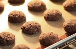 gingersnaps baking in oven
