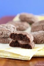Soft Chocolate Gingersnap Cookies