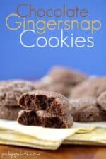 Chocolate Gingersnap Cookies