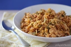 Turkey and bean red rice 1