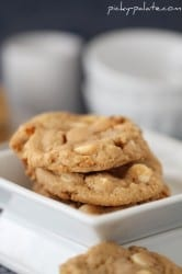 Double White Chocolate Peanut Butter Pretzel Cookies