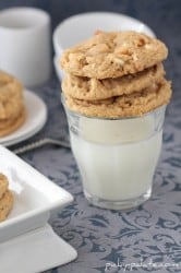 Double White Chocolate Peanut Butter Pretzel Cookies 5