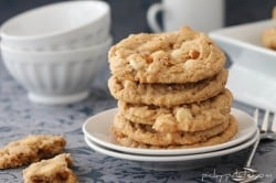 Double White Chocolate Peanut Butter Pretzel Cookies 7