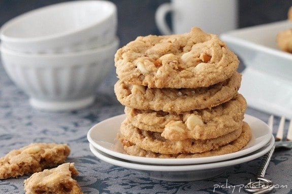 Double White Chocolate and Pretzel Peanut Butter Cookies...with Sea ...
