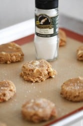sea salt on cookies