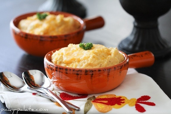 Two Pots of Smoky & Cheesy Buttermilk Baked Mashed Potatoes