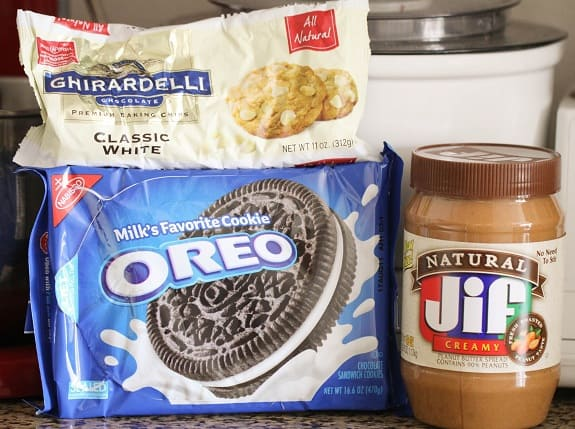 Ingredients You'll Need to Make Cookies and Cream Peanut Butter