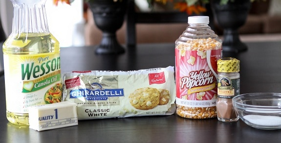 Ingredients You'll Need to Make Snickerdoodle Popcorn with White Chocolate Drizzle
