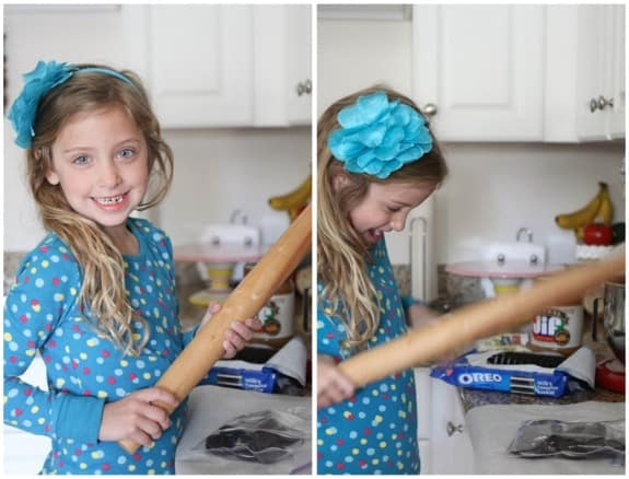 My Neice June with a Rolling Pin
