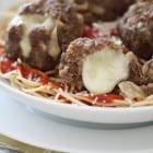 Mozzarella Stuffed Homemade Meatballs | Picky Palate