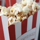 Snickerdoodle Popcorn with White Chocolate Drizzle