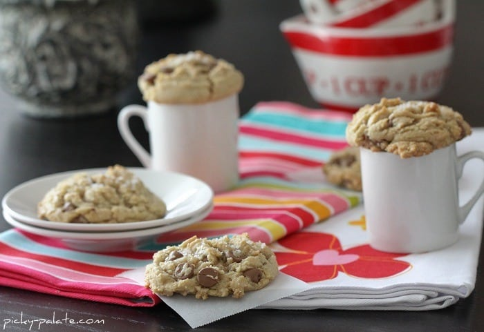 Four Brown Butter and Fleur de Sel Chocolate Chip Cookies
