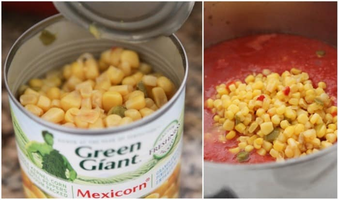 A Can of Mexicorn for Creamy Tomato Soup