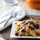 Creamy Salsa and Black Bean Nachos