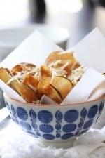 A Bowl of Homemade Parmesan Potato Chips