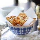 Bowl of Homemade Parmesan Potato Chips....for one :)