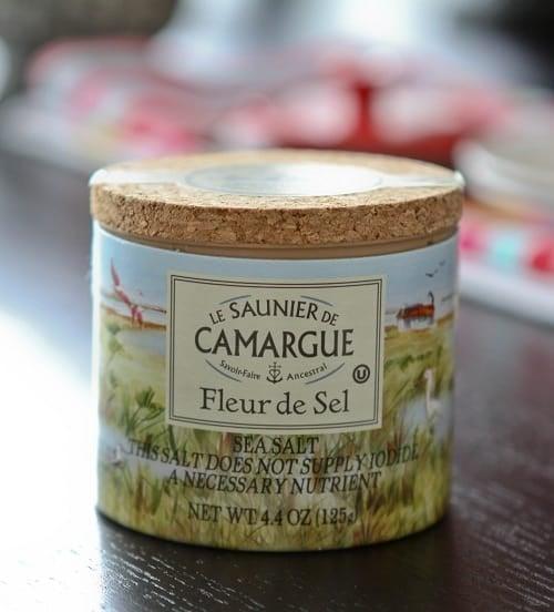 A Tub Filled with Fleur de Sel