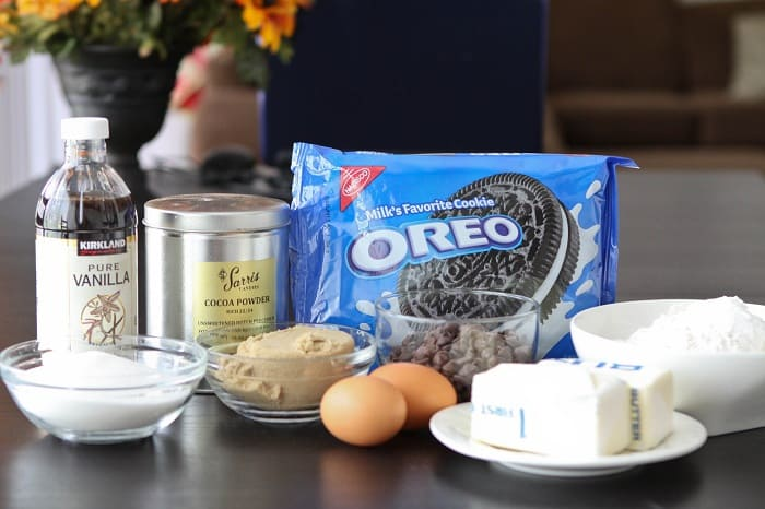 A Pack of Oreos and Other Cookie Dough Ingredients for The Best Cookies & Cream Cookies