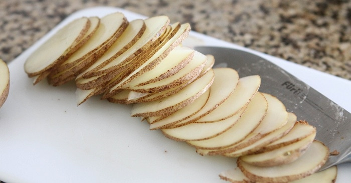 Thin Slices of a Russet Potato