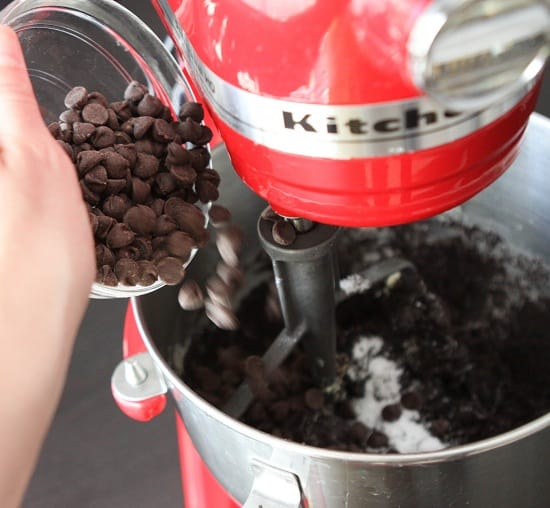 Adding Chocolate Chips to the Batter