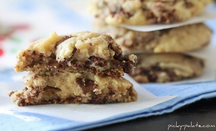 Image of Gooey Brownie Chunk Chocolate Chip Cookies