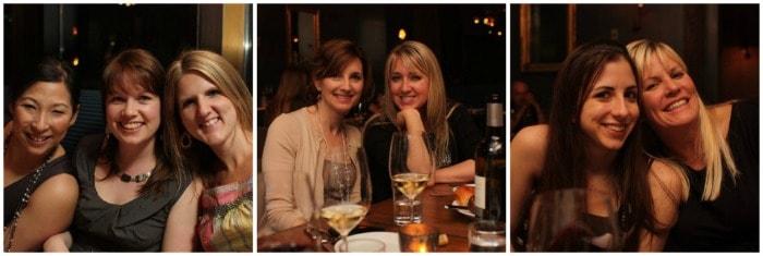 Image of us Girls at Dinner in Atlanta