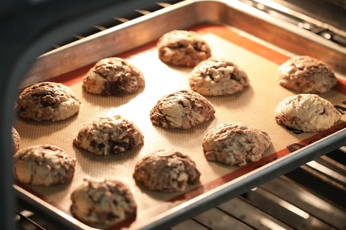 Image of Brownie Chunk Chocolate Chip Cookies Baking