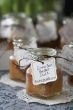 A Labeled Cinna-bun Butter Cake in a Jar