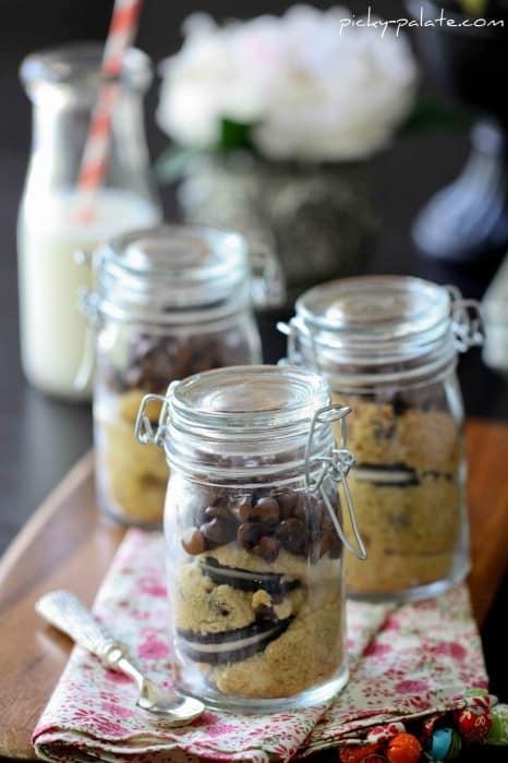 Image of Oreo Stuffed Cookie Jars & a Glass of Milk