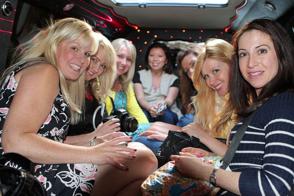 Image of us in a Limo